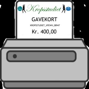 Gavekortet kan printes hjemme eller af modtagen